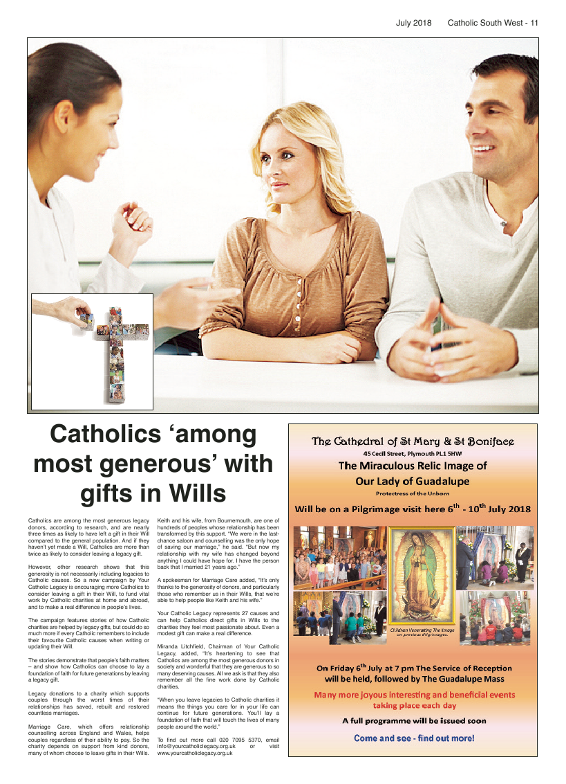 Jul 2018 edition of the Catholic South West - Page