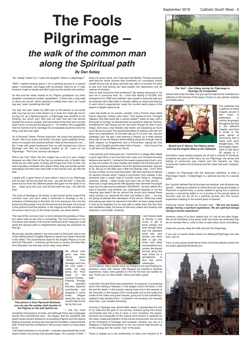 Sept 2018 edition of the Catholic South West - Page