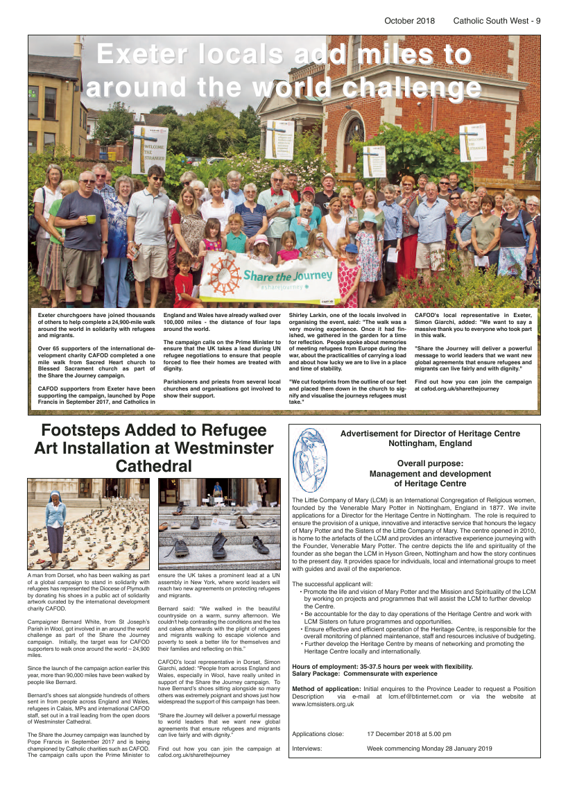Oct 2018 edition of the Catholic South West - Page