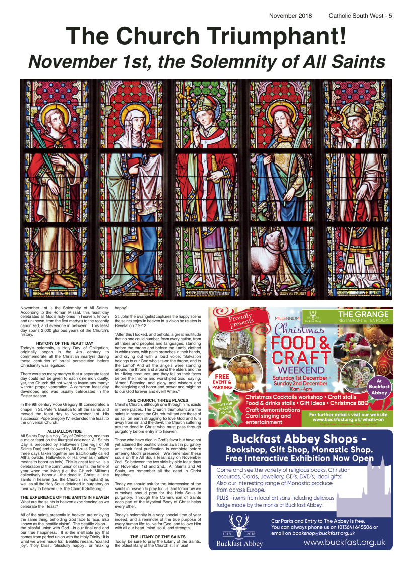 Nov 2018 edition of the Catholic South West - Page