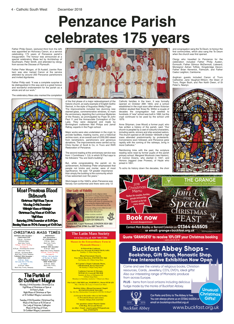 Dec 2018 edition of the Catholic South West - Page