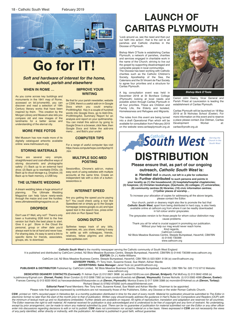 Feb 2019 edition of the Catholic South West - Page