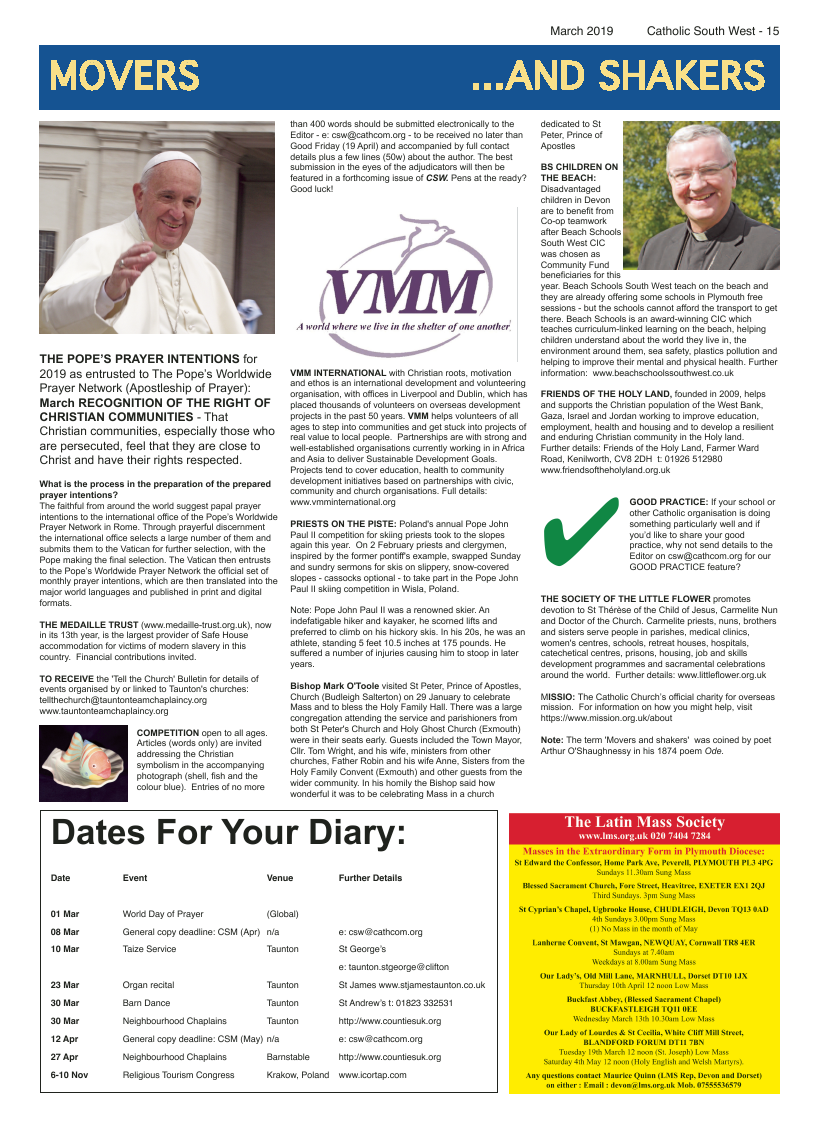 Mar 2019 edition of the Catholic South West - Page