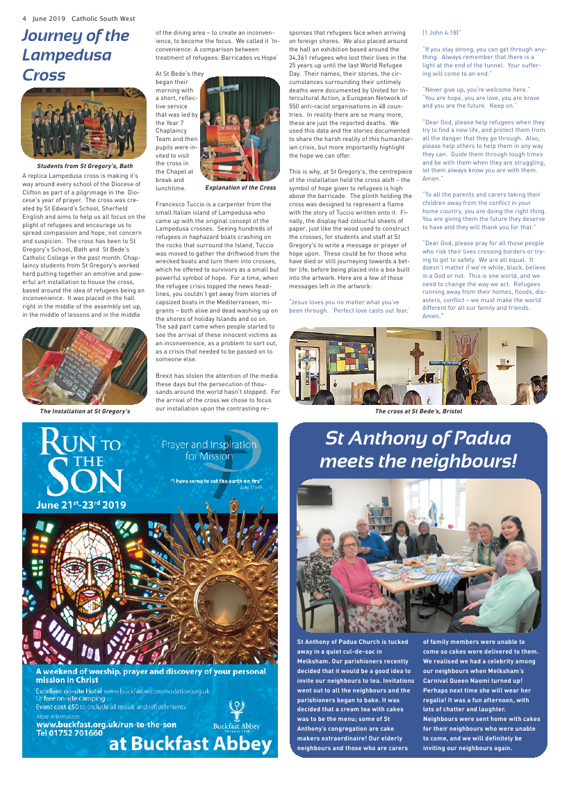 Jun 2019 edition of the Catholic South West - Page