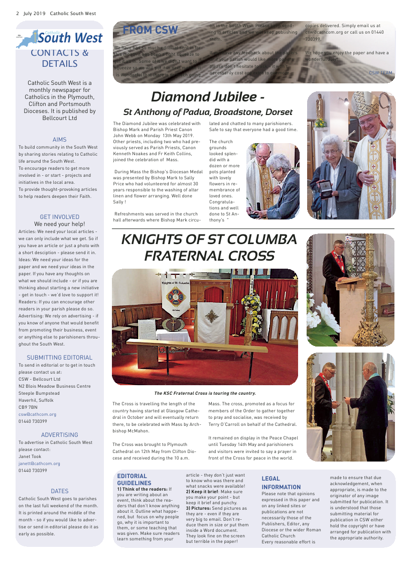 Jul 2019 edition of the Catholic South West - Page