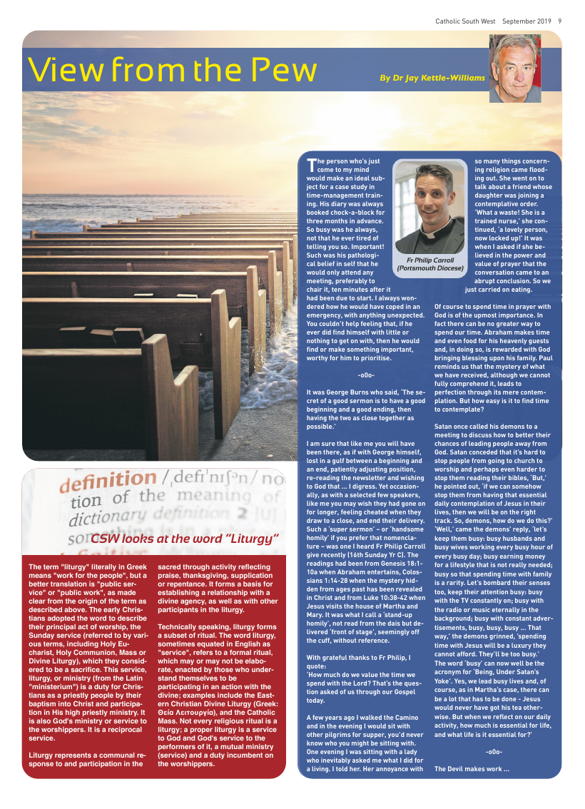Sept 2019 edition of the Catholic South West - Page