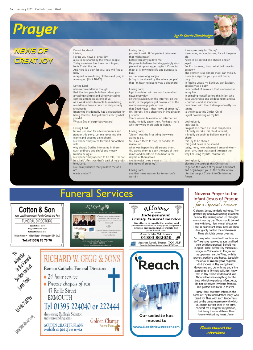 Jan 2020 edition of the Catholic South West