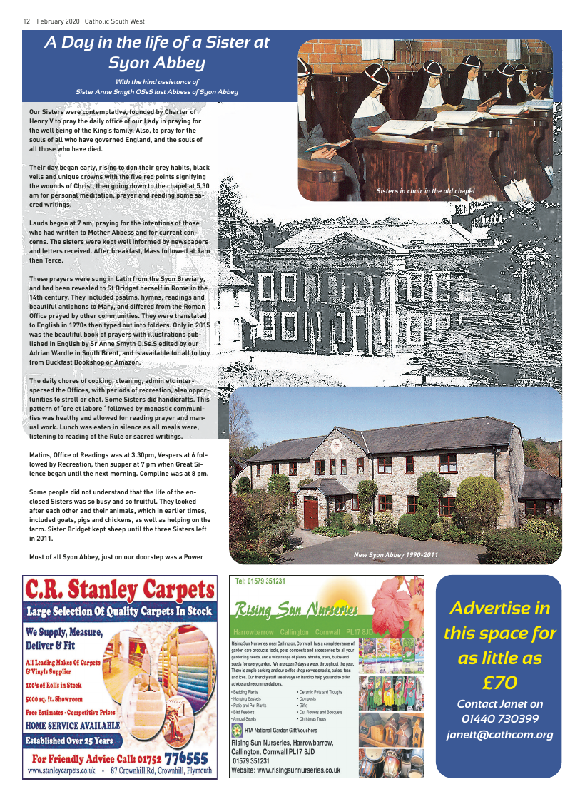 Feb 2020 edition of the Catholic South West