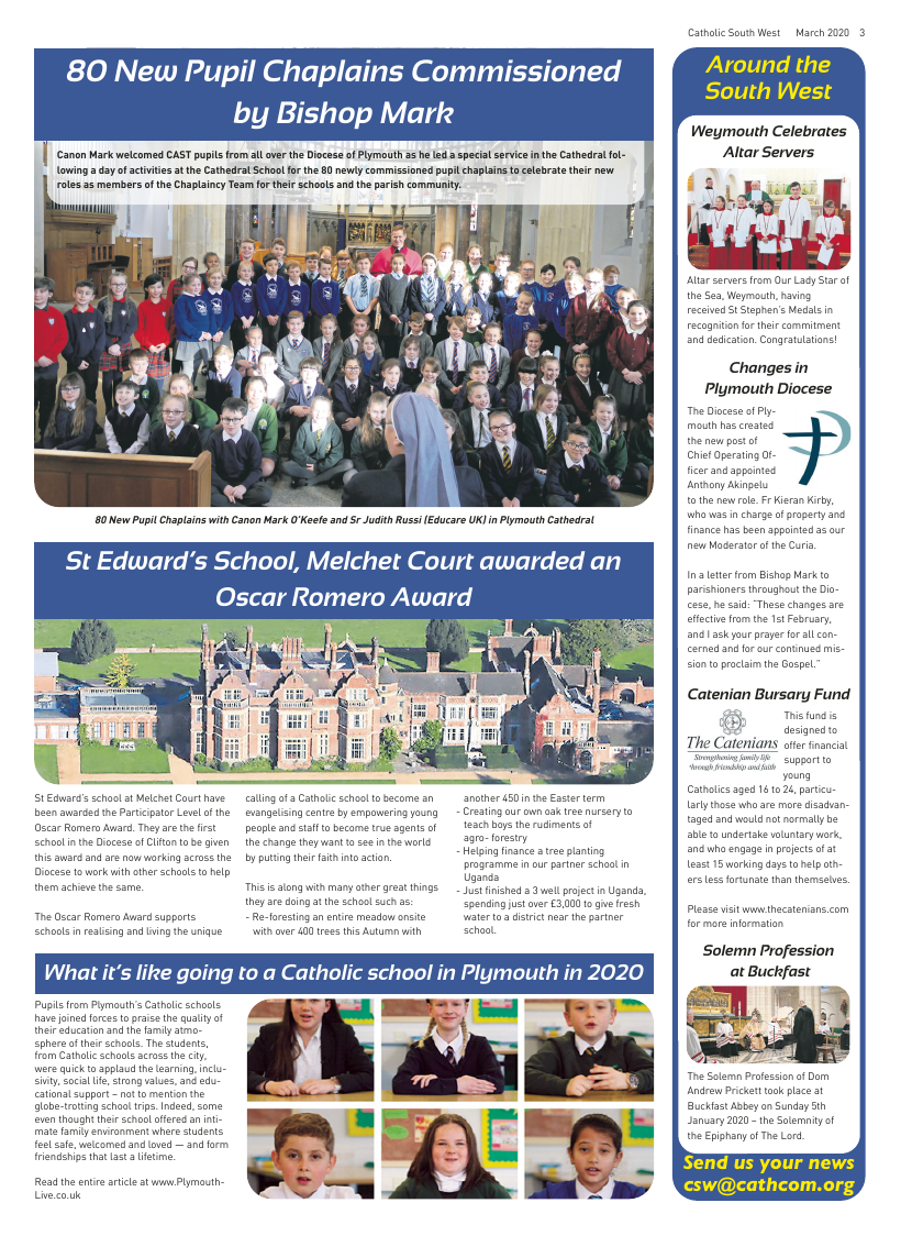 Mar 2020 edition of the Catholic South West