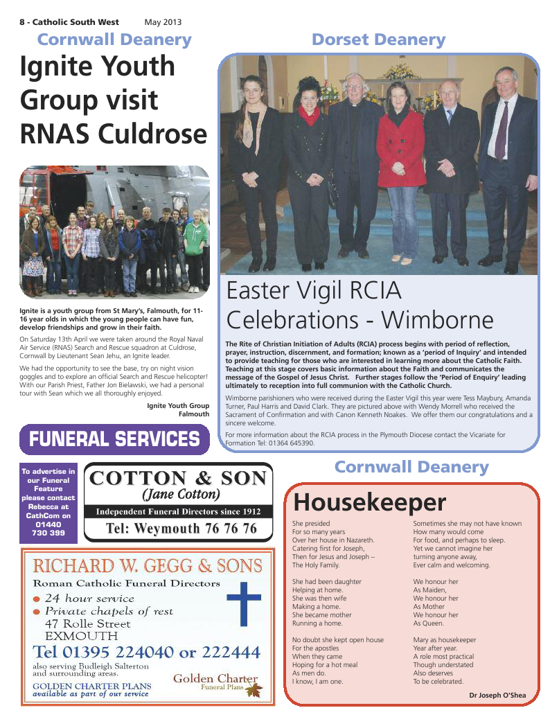 May 2013 edition of the Catholic South West