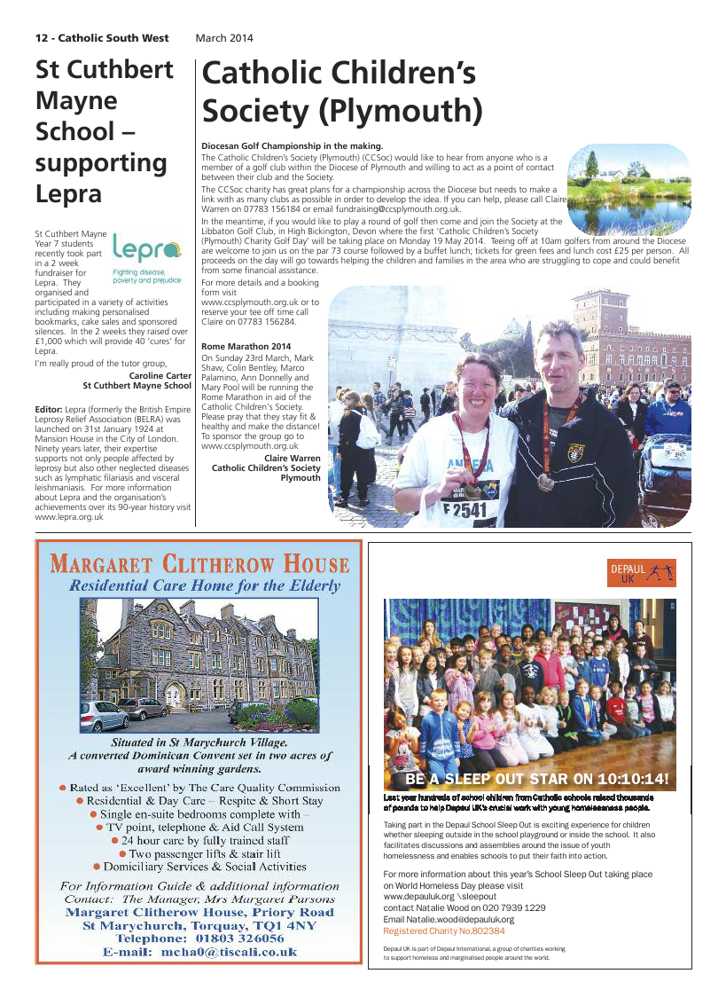 Mar 2014 edition of the Catholic South West
