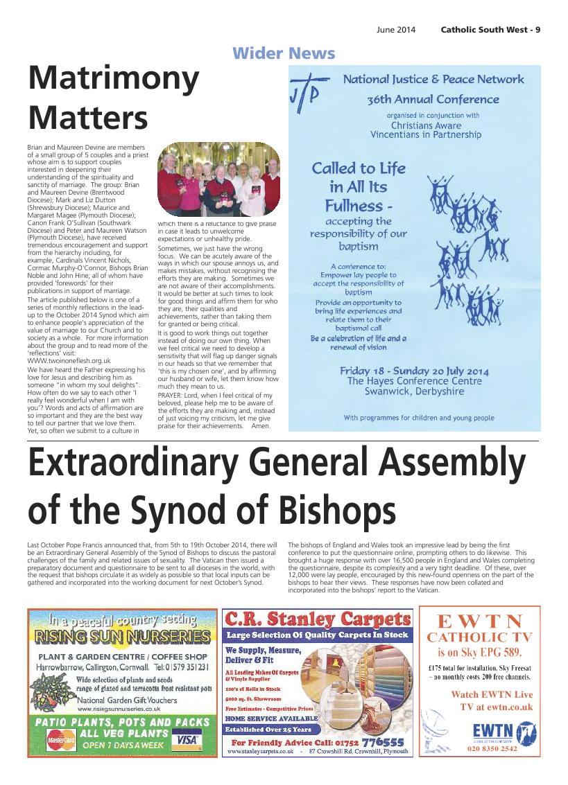 Jun 2014 edition of the Catholic South West