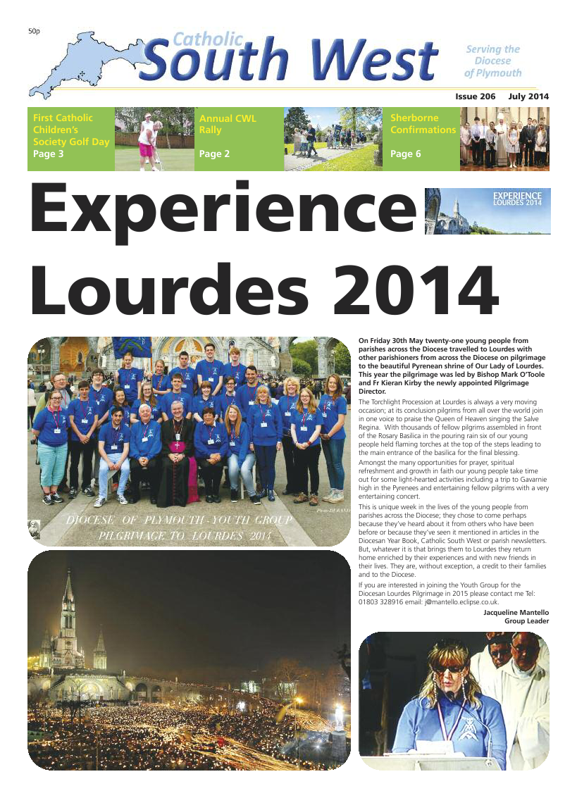 Jul 2014 edition of the Catholic South West