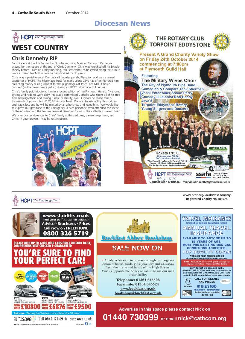 Oct 2014 edition of the Catholic South West