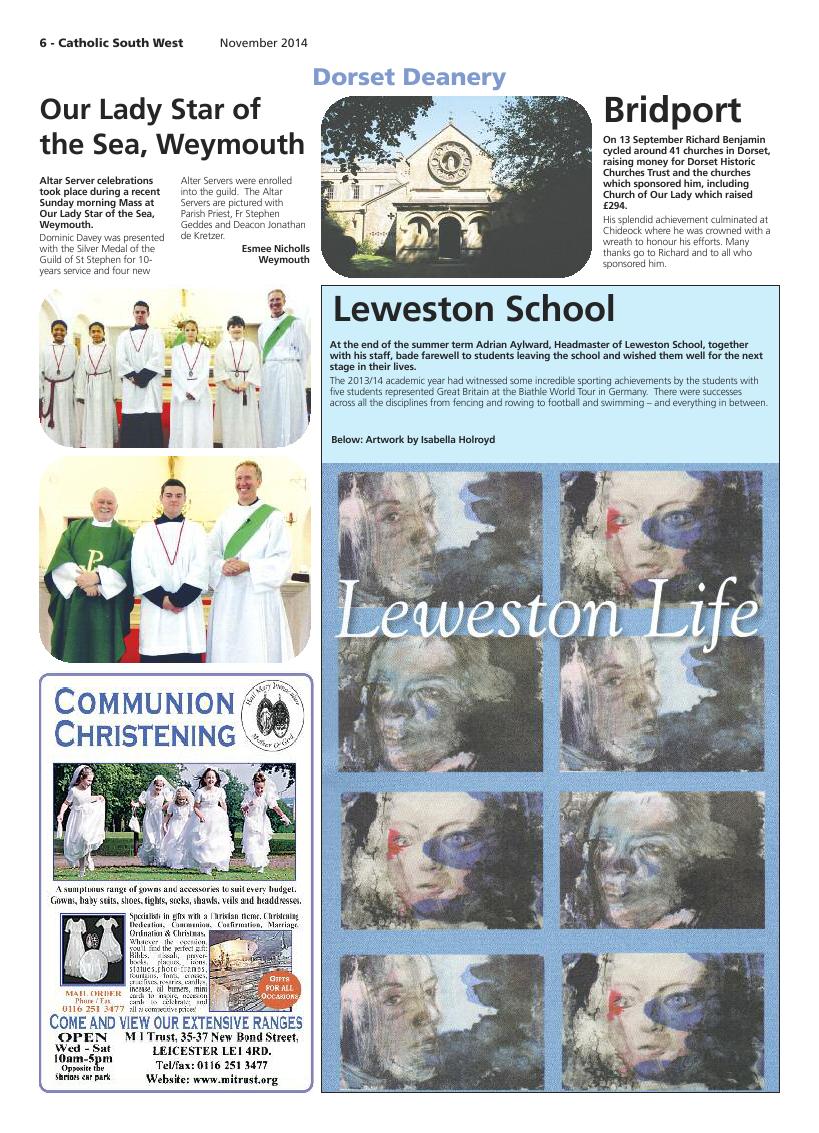 Nov 2014 edition of the Catholic South West