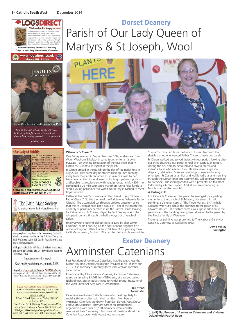 Dec 2014 edition of the Catholic South West