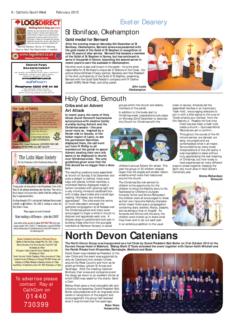Feb 2015 edition of the Catholic South West