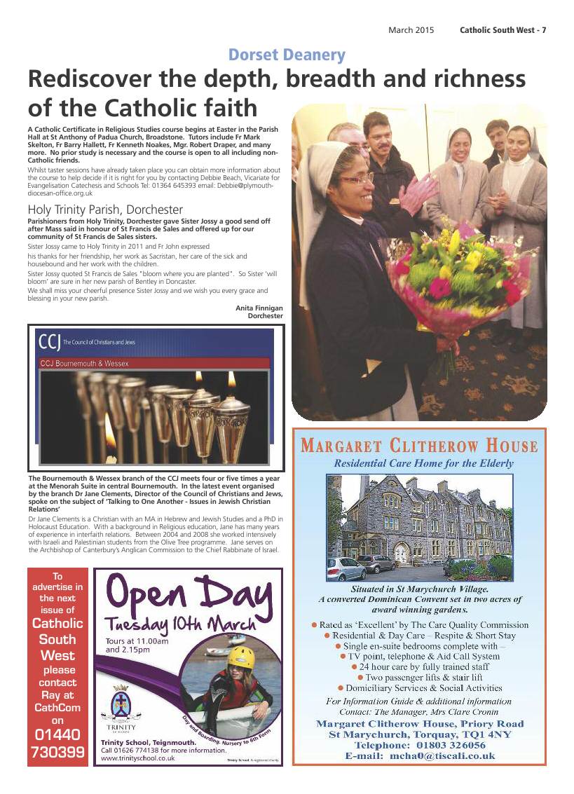 Mar 2015 edition of the Catholic South West