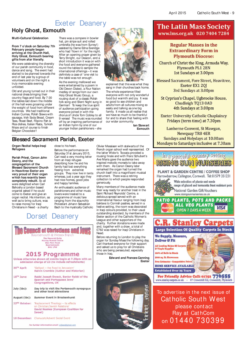 Apr 2015 edition of the Catholic South West