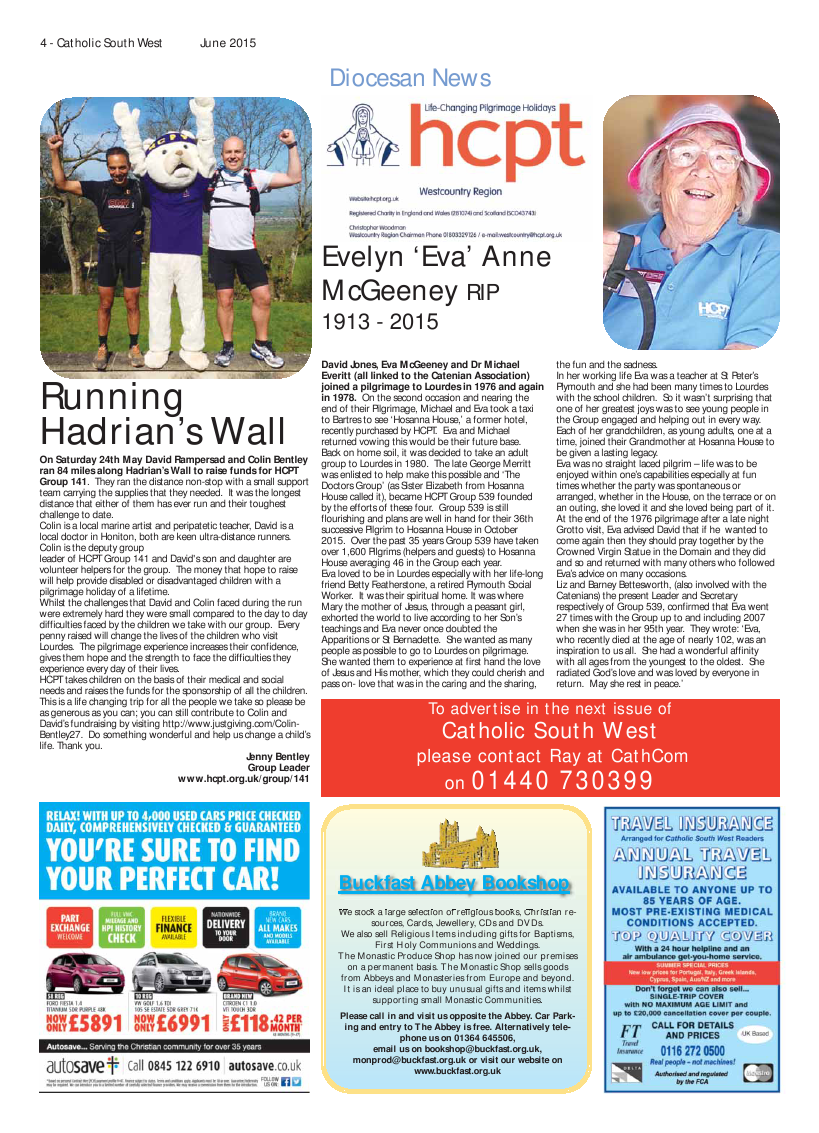 Jun 2015 edition of the Catholic South West