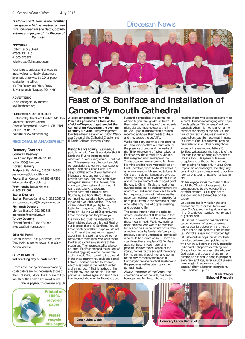 Jul 2015 edition of the Catholic South West
