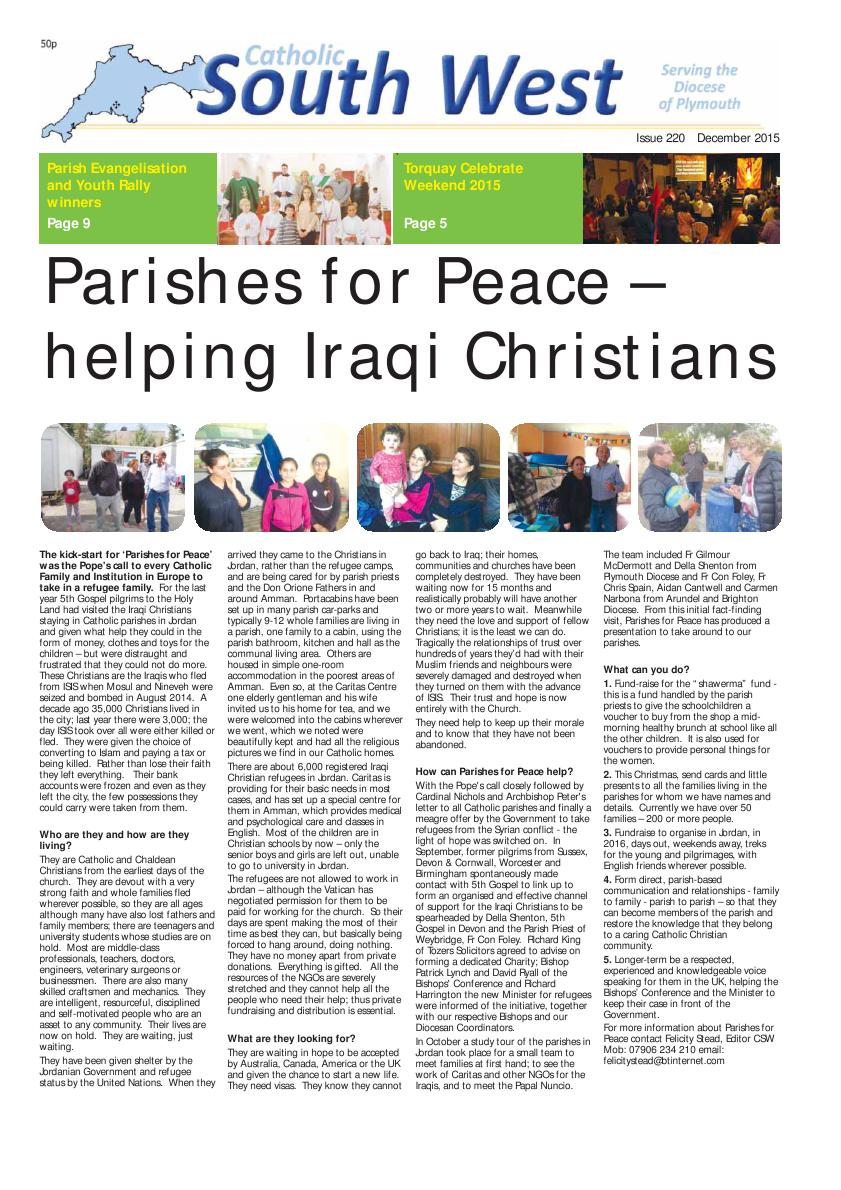 Dec 2015 edition of the Catholic South West
