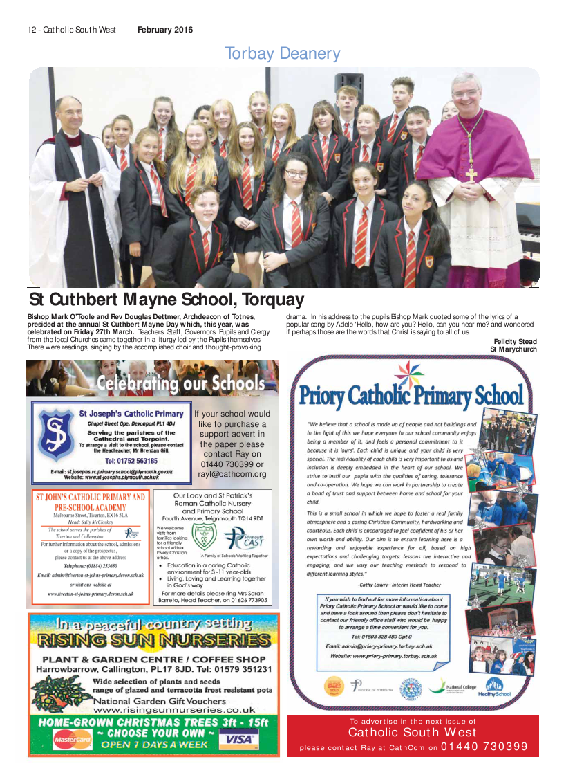 Feb 2016 edition of the Catholic South West - Page