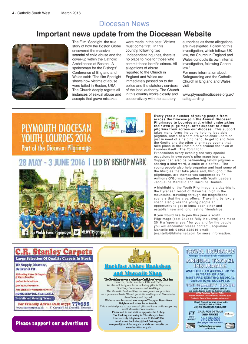 Mar 2016 edition of the Catholic South West - Page