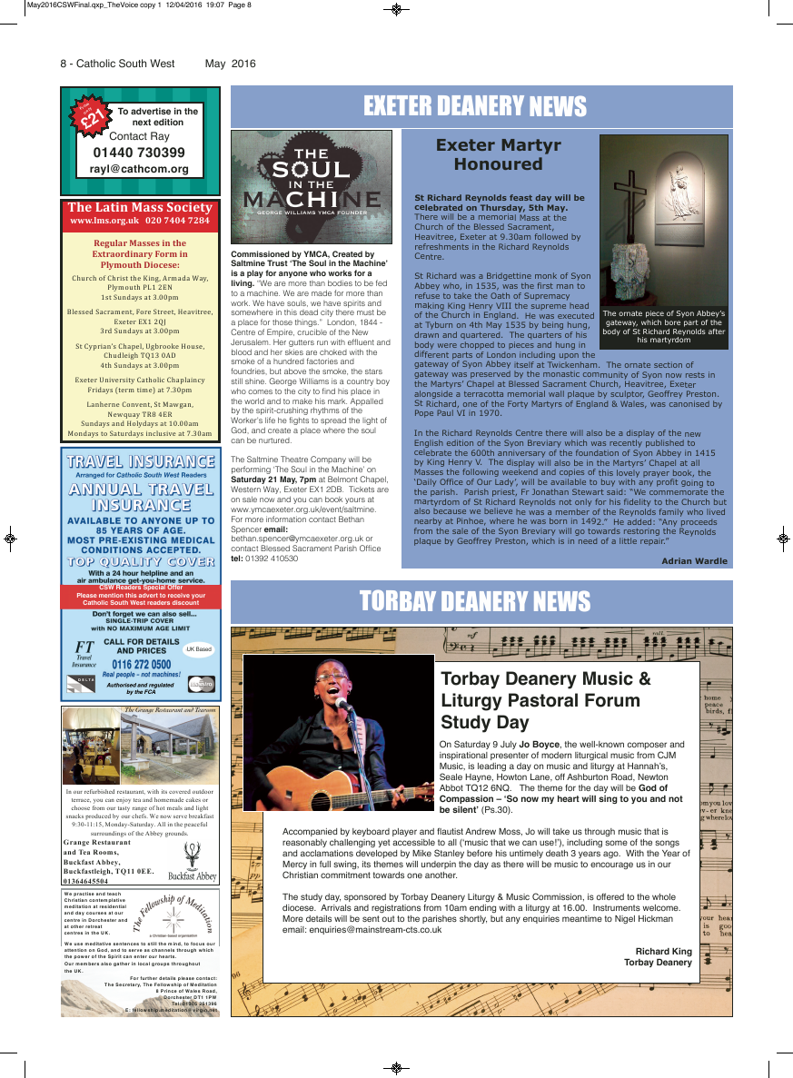 May 2016 edition of the Catholic South West - Page