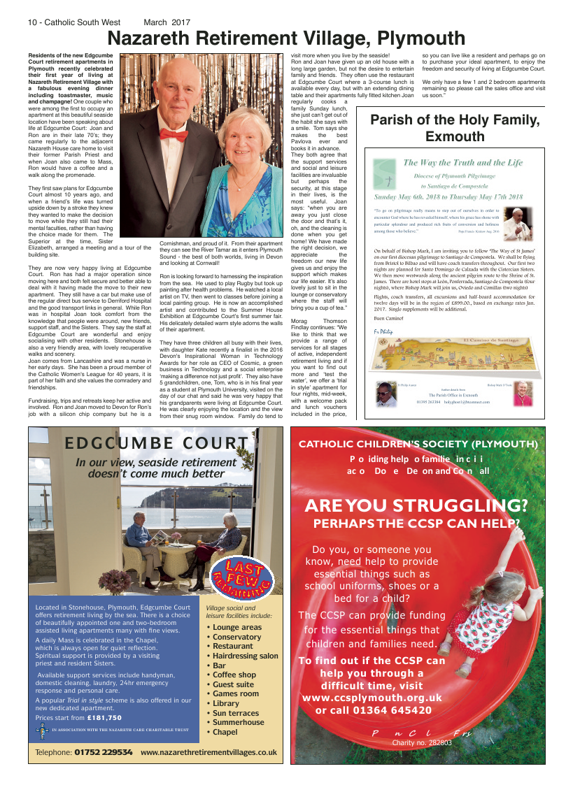 Mar 2017 edition of the Catholic South West - Page
