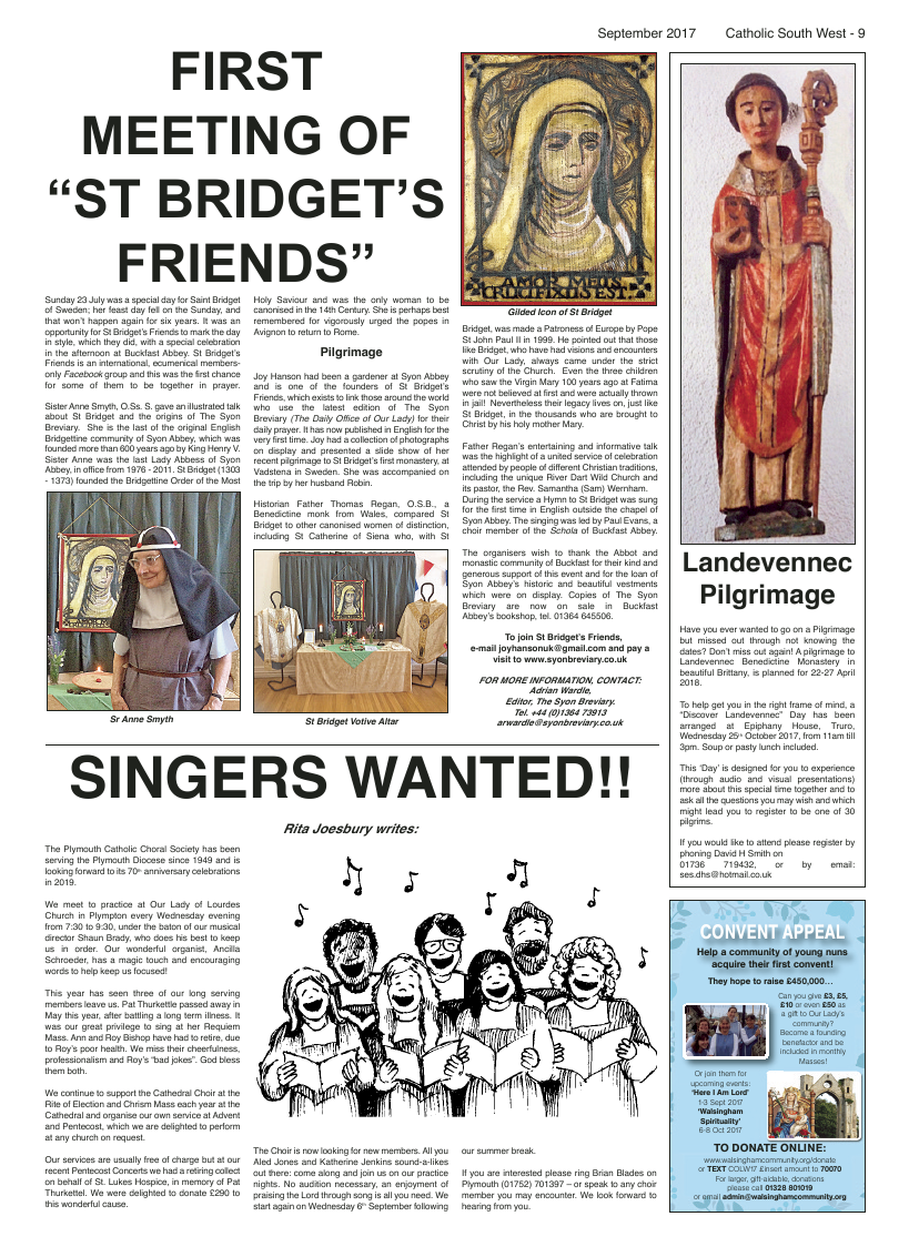 Sept 2017 edition of the Catholic South West - Page
