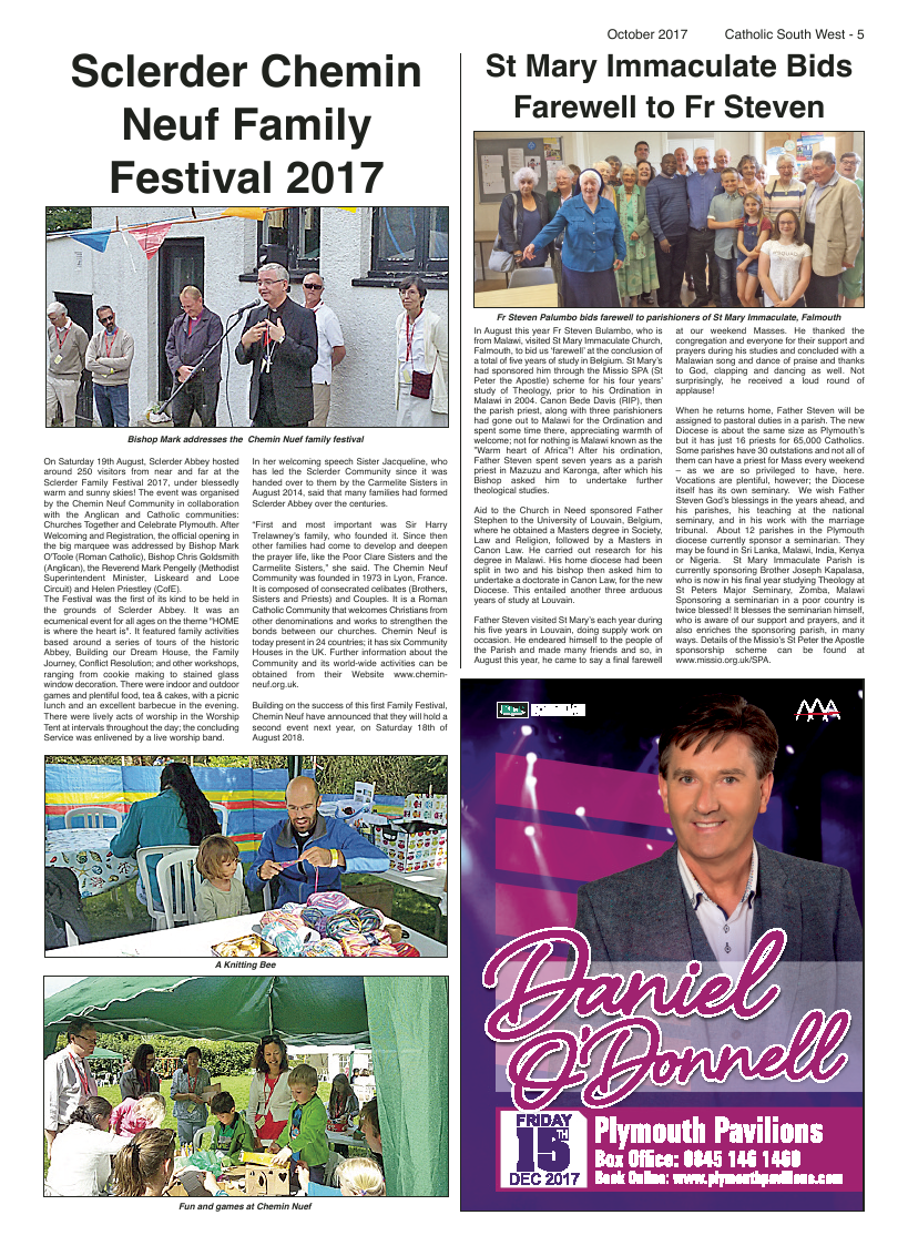 Oct 2017 edition of the Catholic South West - Page