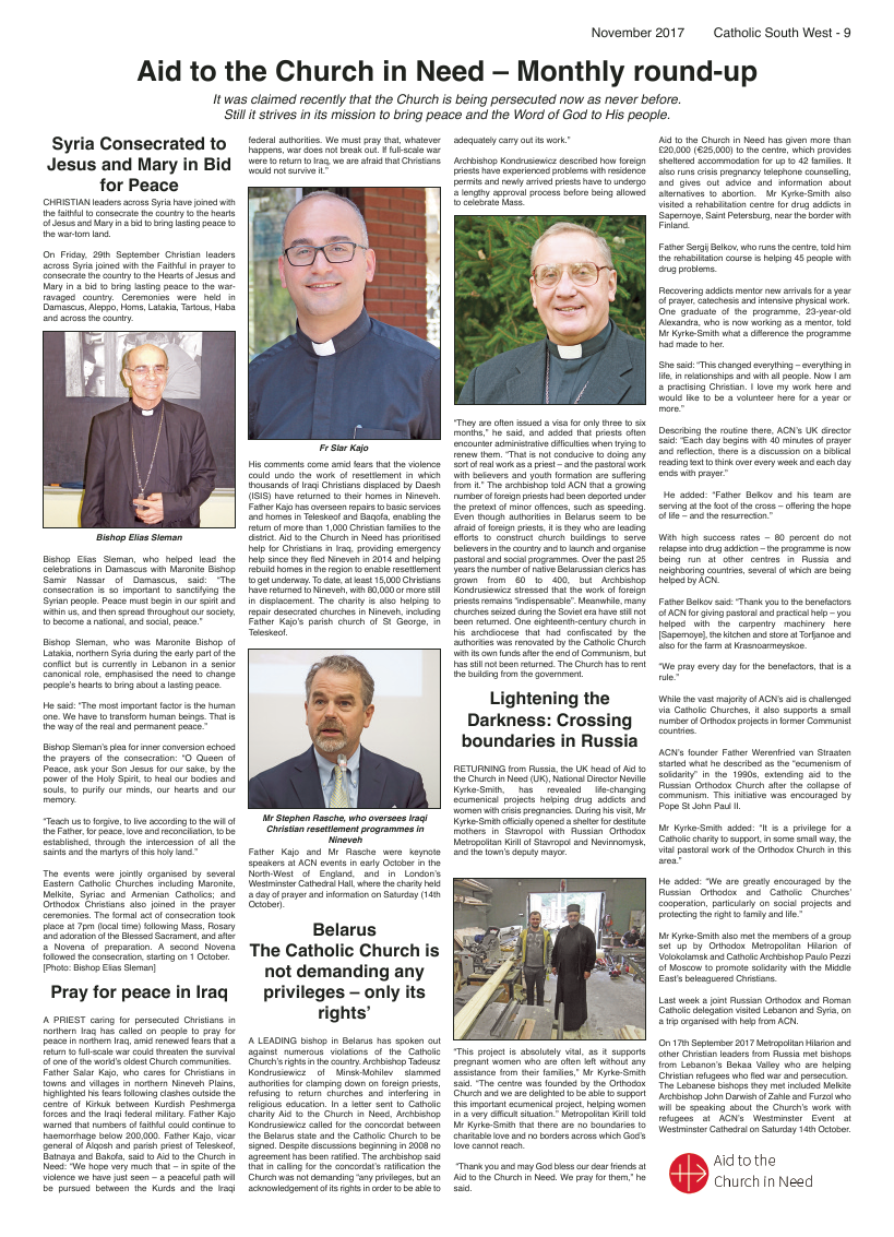 Nov 2017 edition of the Catholic South West - Page