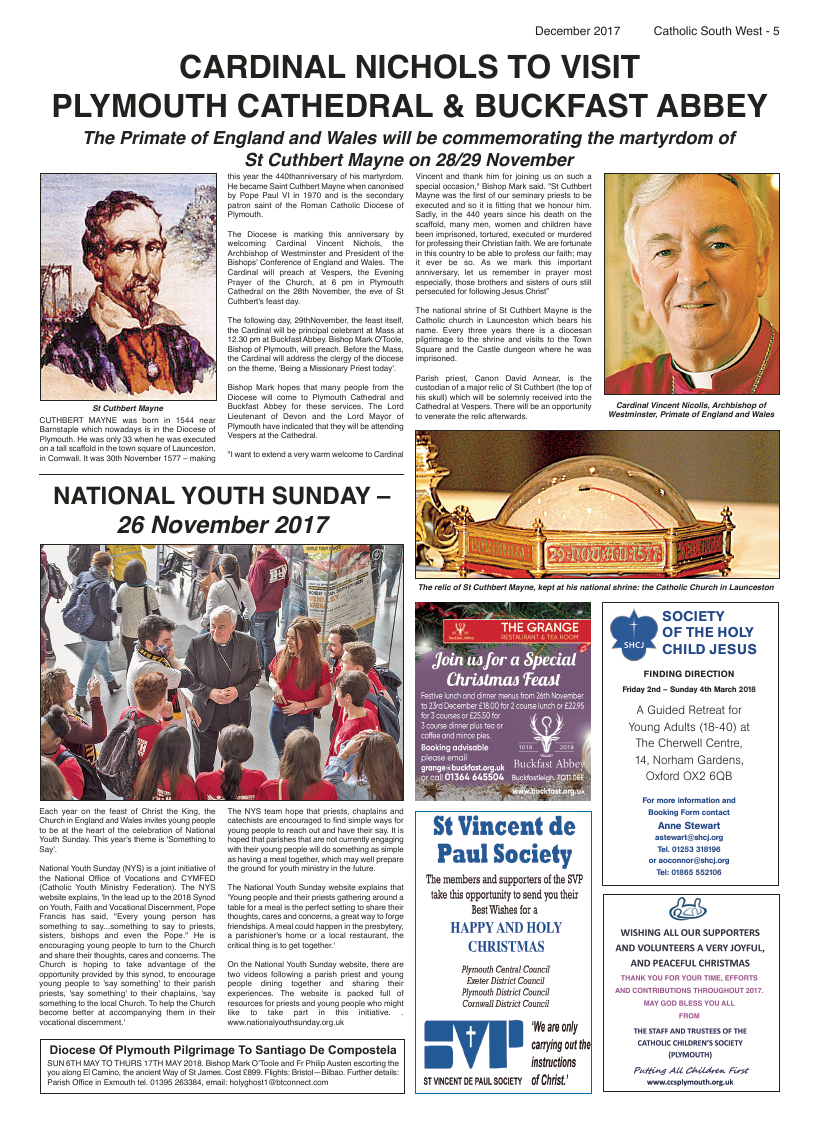 Dec 2017 edition of the Catholic South West - Page