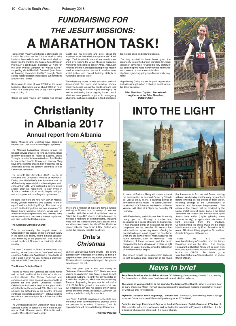 Feb 2018 edition of the Catholic South West - Page