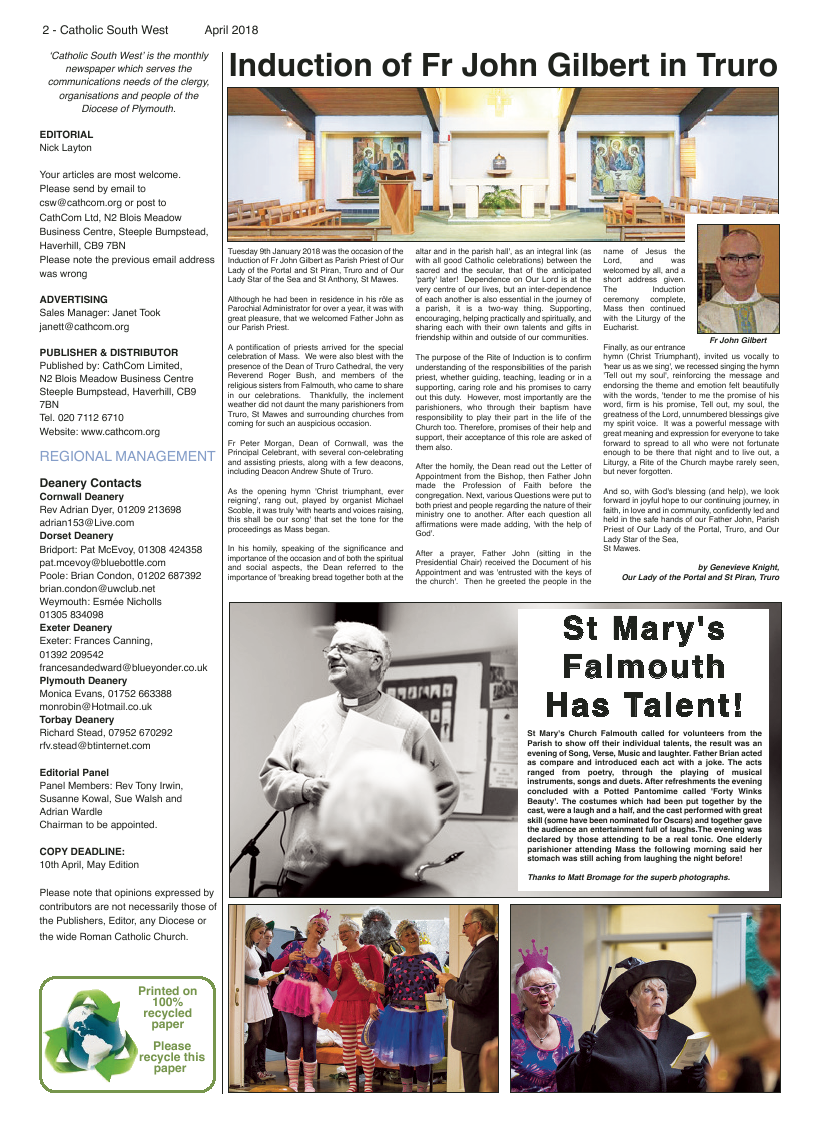Apr 2018 edition of the Catholic South West - Page