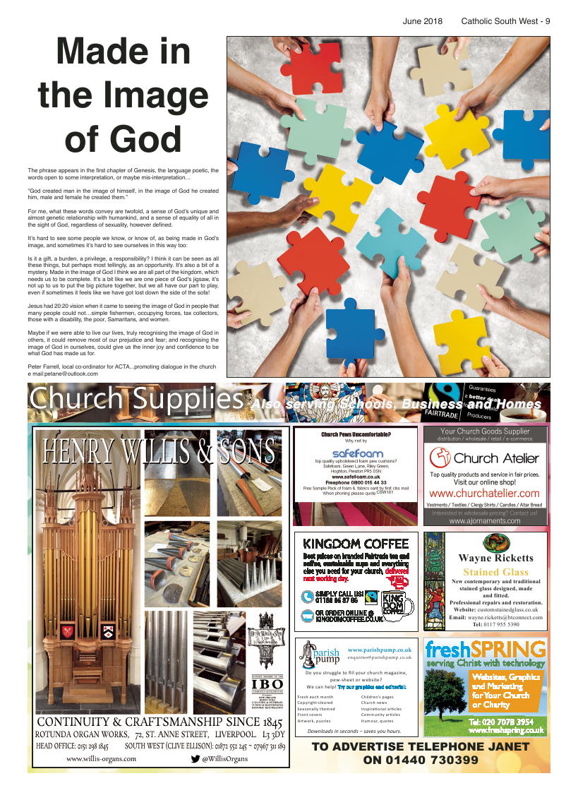 Jun 2018 edition of the Catholic South West - Page