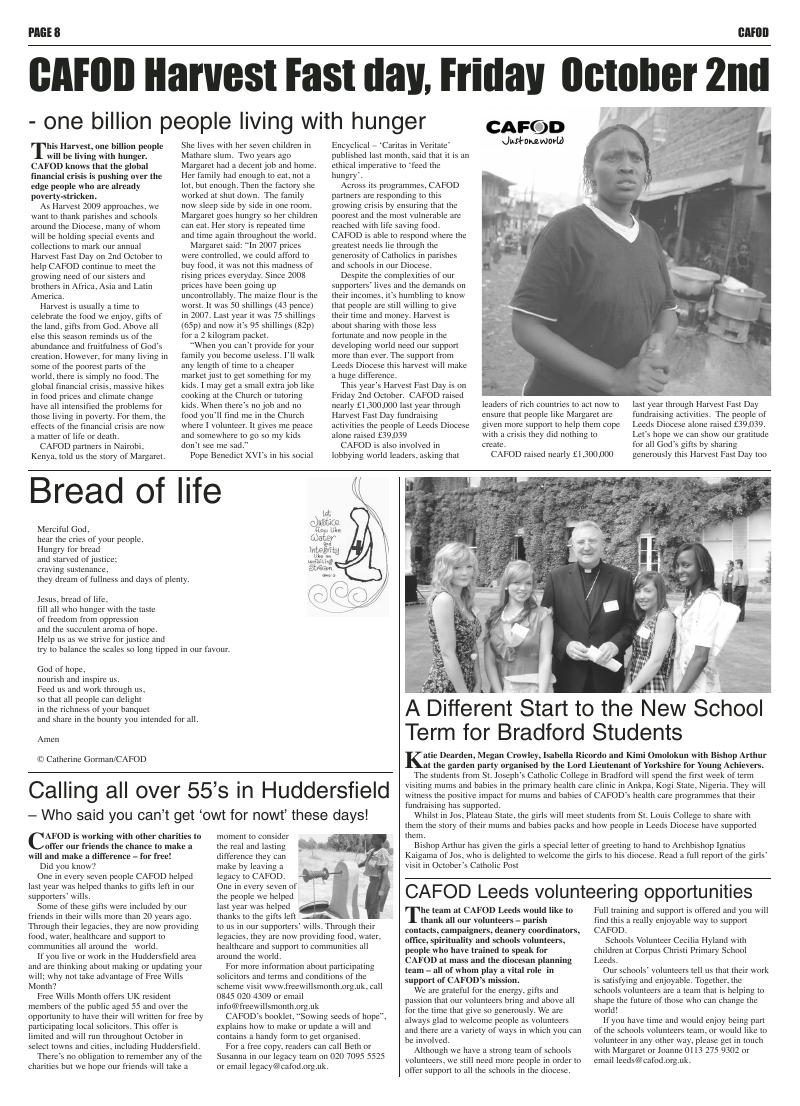 Sep 2009 edition of the Leeds Catholic Post