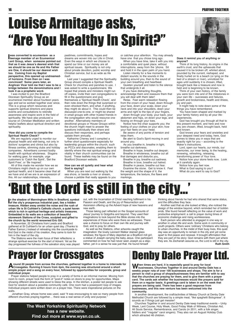 Jan 2012 U edition of the Leeds Catholic Post