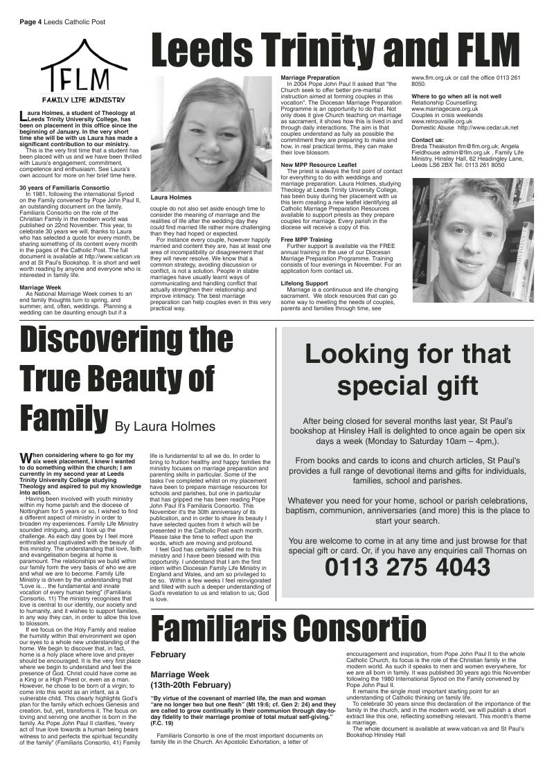 Feb 2012 edition of the Leeds Catholic Post