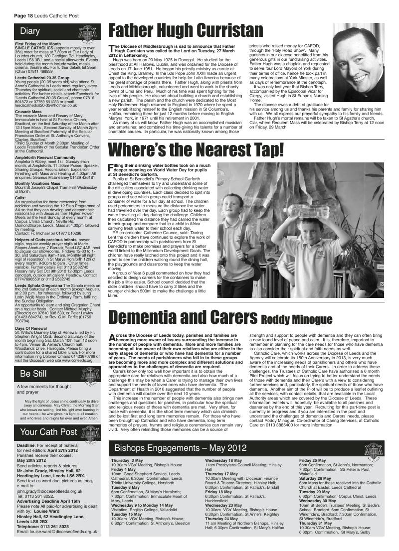 Apr 2012 edition of the Leeds Catholic Post