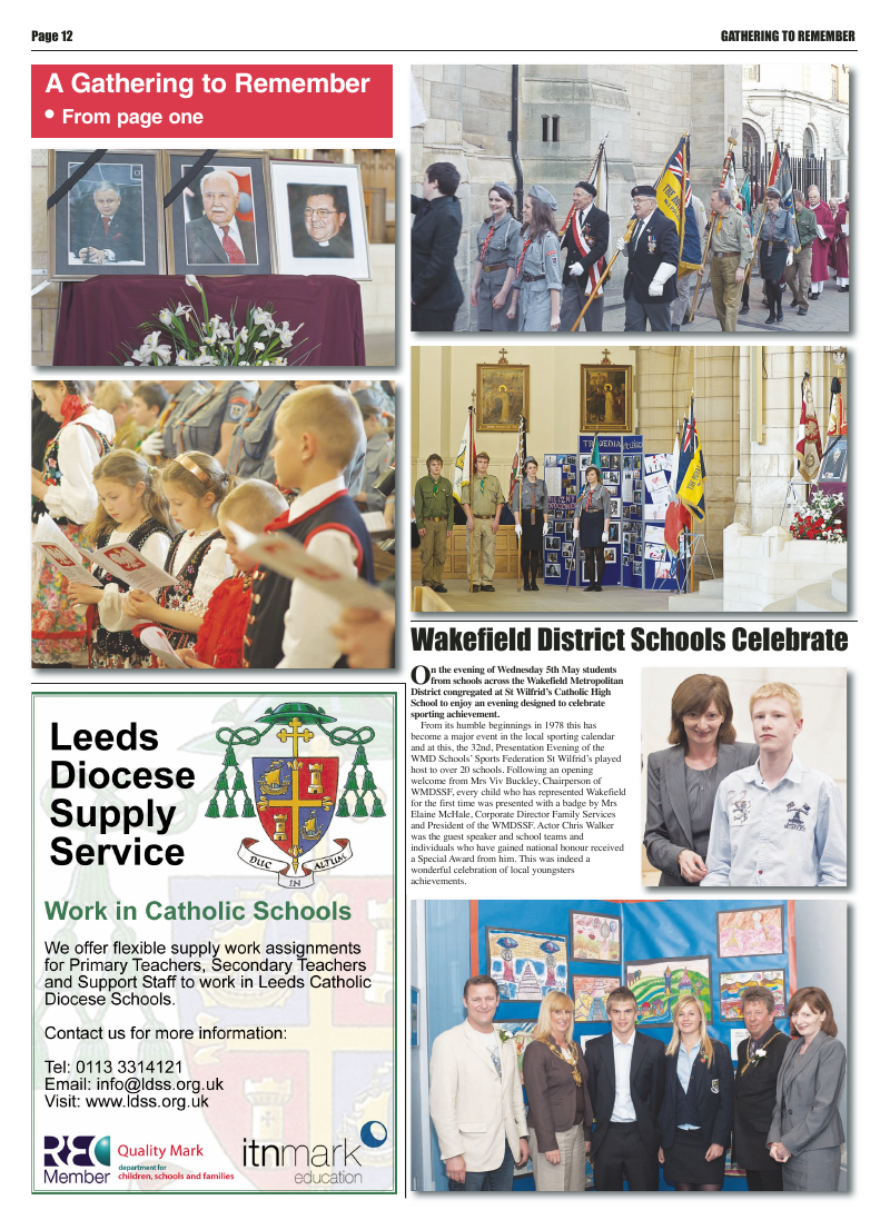 May 2010 edition of the Leeds Catholic Post