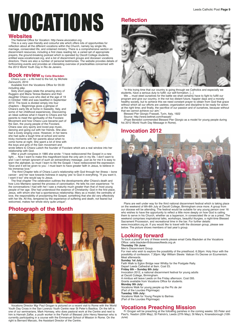 May 2012 edition of the Leeds Catholic Post