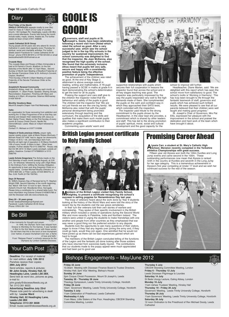 Jun 2012 edition of the Leeds Catholic Post