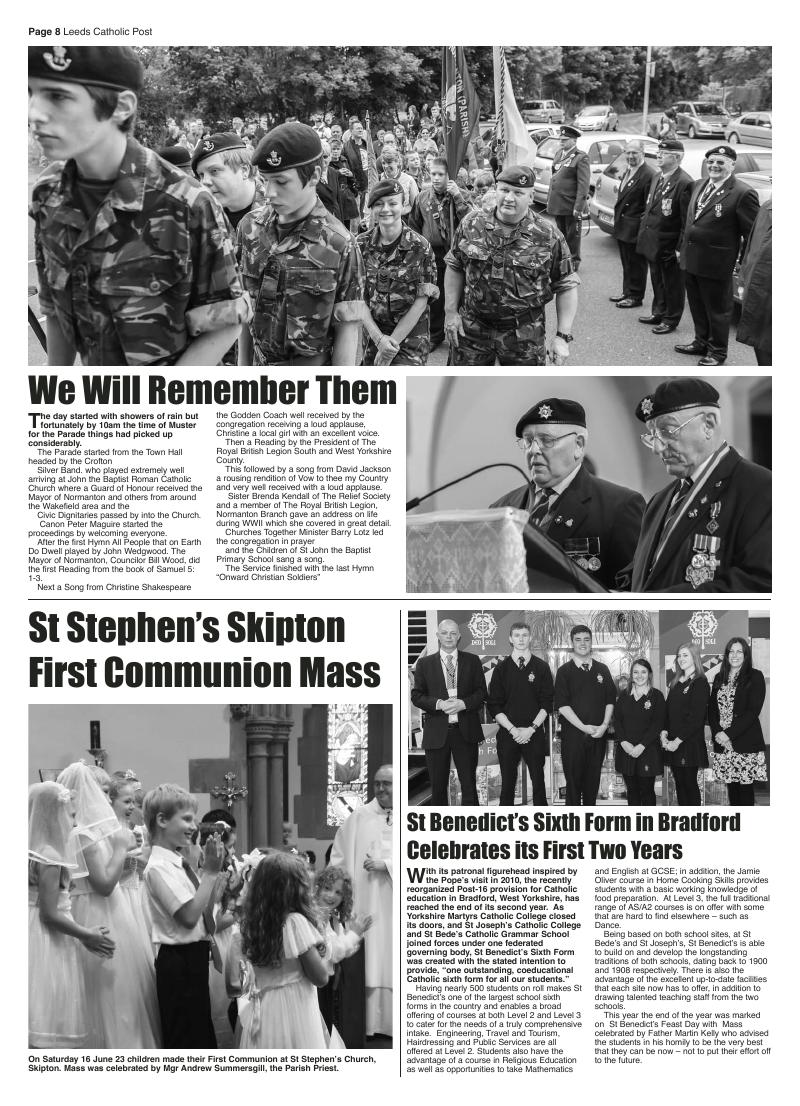 Jul/Aug 2012 edition of the Leeds Catholic Post