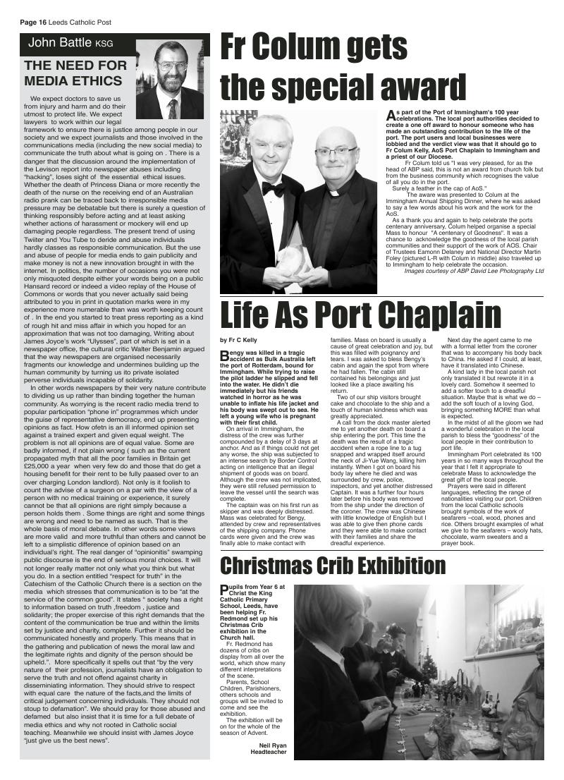 Dec 2012 edition of the Leeds Catholic Post