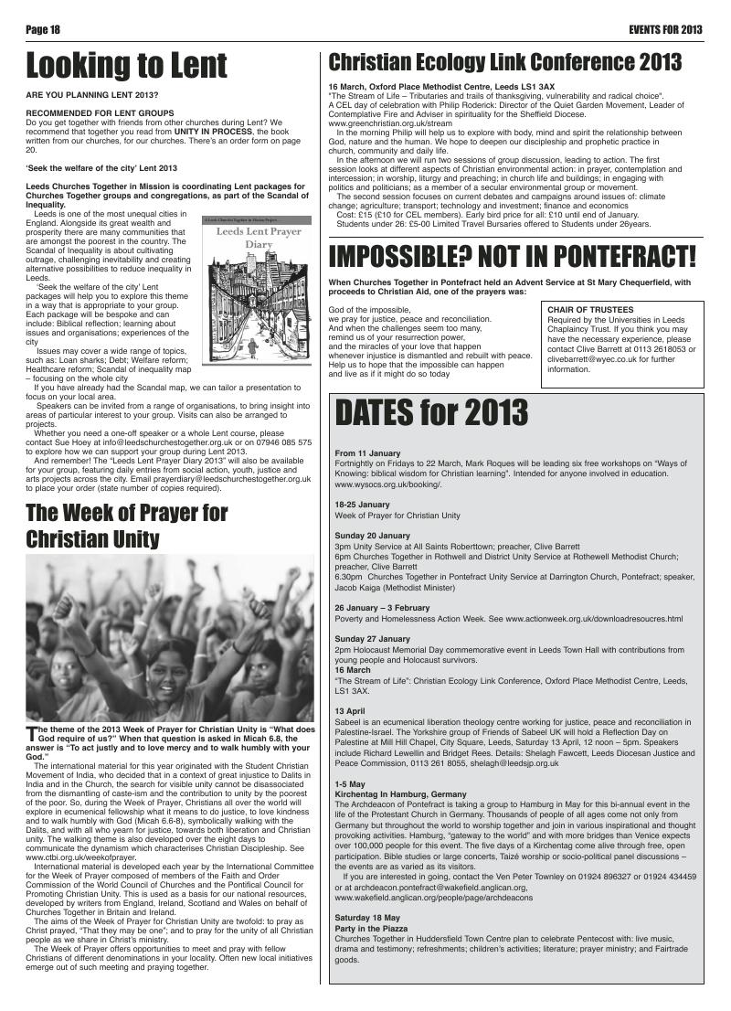 Jan 2013 U edition of the Leeds Catholic Post