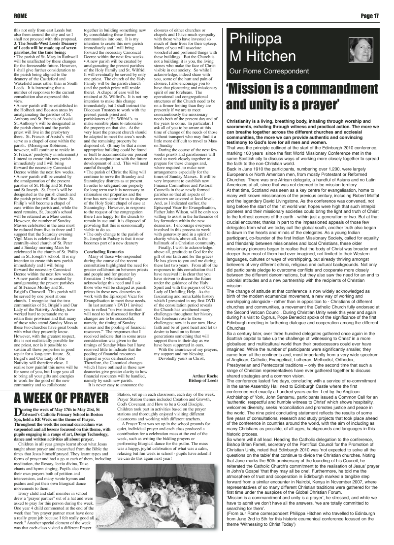 Jun 2010 edition of the Leeds Catholic Post