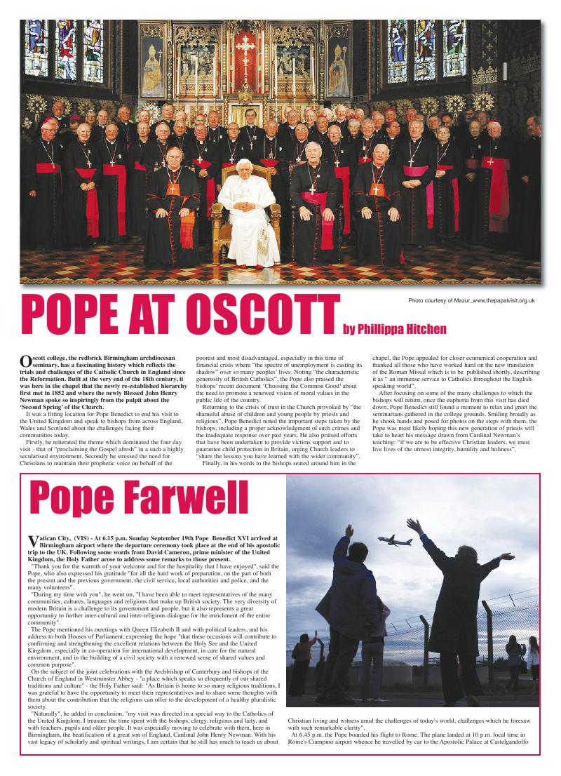 Oct 2010 edition of the Leeds Catholic Post