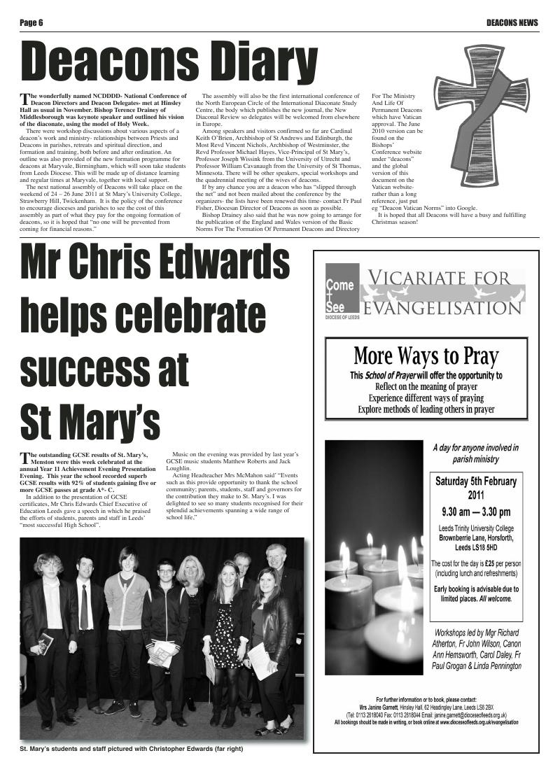 Dec 2010 edition of the Leeds Catholic Post